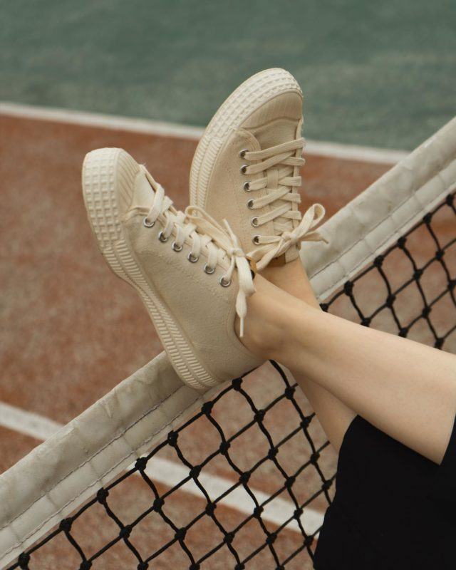 SPORTS INSPIRED SNEAKERS Recycled Cotton Lace-Ups •Made In The Neighborhood• ®️RIVA SAIL WHITE®️ www.thecutproject.com . #leathersneakers #vulcanizedsneakers #whitesneakers #thecutproject #thecutprojectshoes #womensneakers #womenshoes #sneakers #luxuryshoes #madeintheneighborhood ©️THE CUT PROJECT©️
