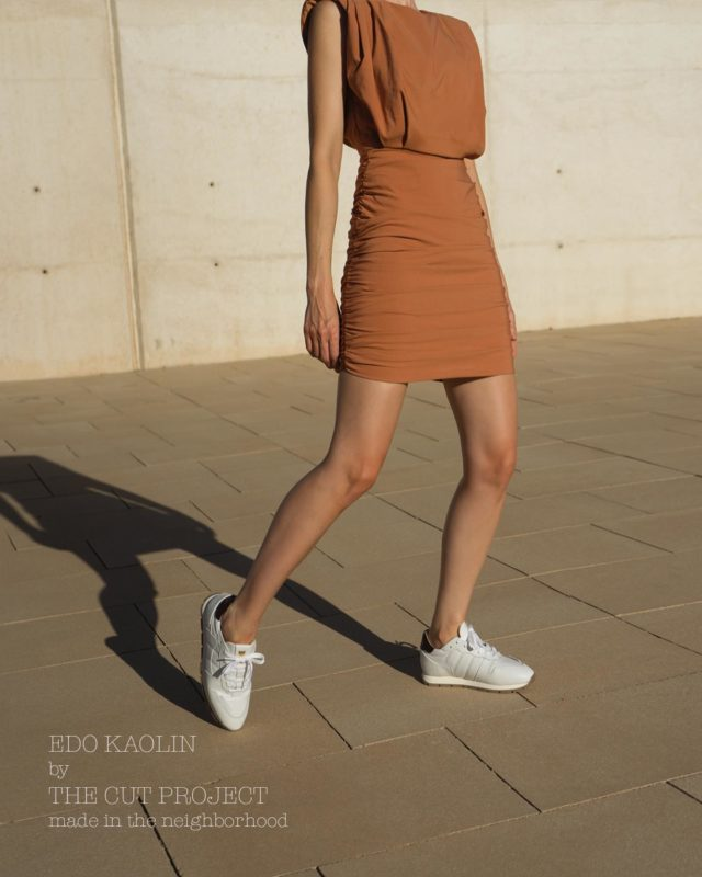 1st RULE: WEAR DRESS WITH SNEAKERS Extremely High Quality Italian Leather •Made In The Neighborhood• ®️EDO KAOLIN®️ www.thecutproject.com . #leathersneakers #ethicalbrand #whitesneakers #thecutproject #thecutprojectshoes #womensneakers #womenshoes #sneakers #luxuryshoes #madeintheneighborhood ©️THE CUT PROJECT©️